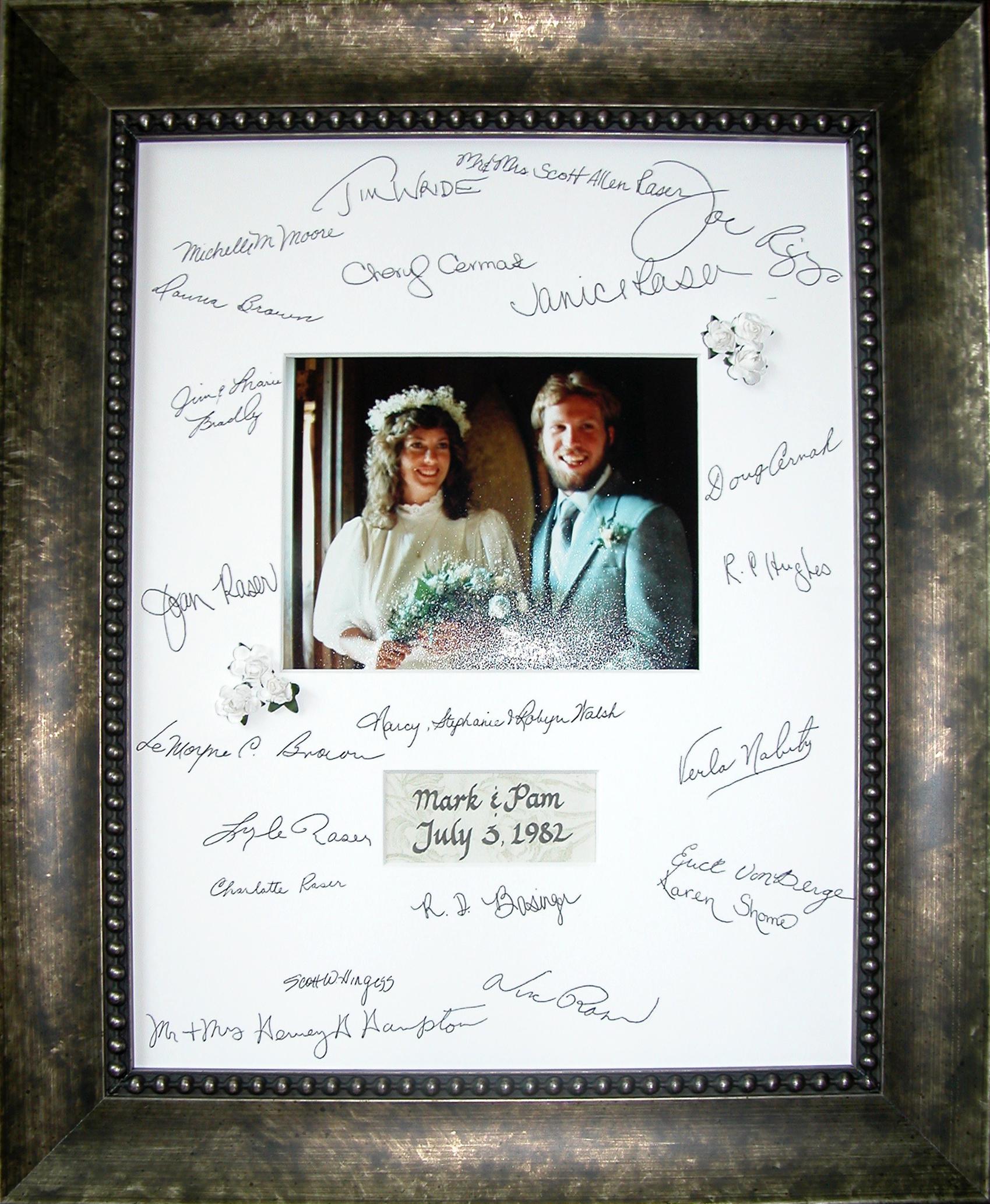 Wedding guest signatures