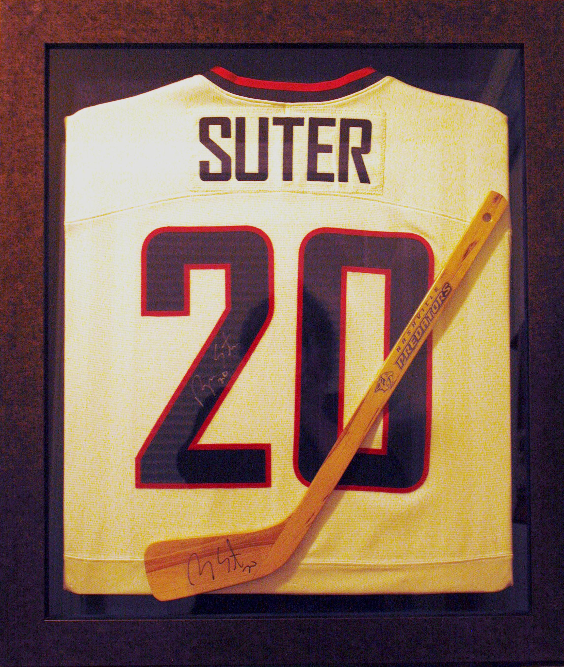 Hockey jersey and stick