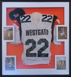 Football jersey and photos