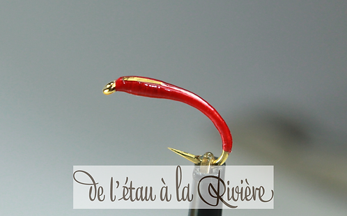Nymphe de chironomes réf : Chirolav2 rouge/or