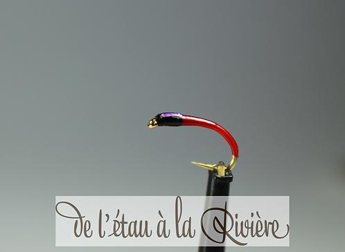 Nymphe de chironome réf : Chirolav4 rouge/violet