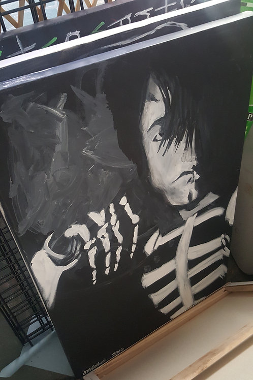 Young Glenn Danzig painting