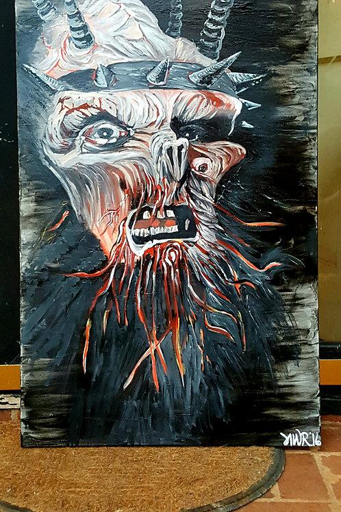 Oderus Urungus large acrylic painting