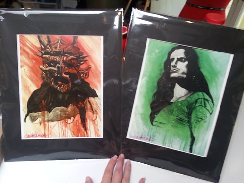 prints of my own paintings with 11x14 black mat