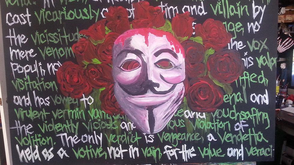V for Vendetta painting