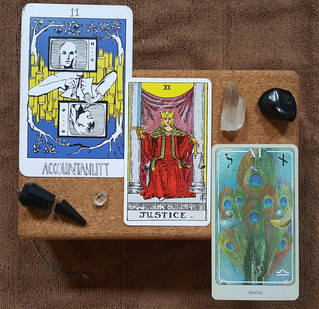 Tarot Perspectives: JUSTICE / ACCOUNTABILITY
