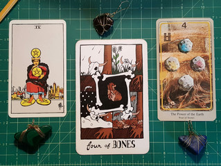 Tarot Perspectives: FOUR OF PENTACLES / FOUR OF BONES / FOUR OF STONES / THE POWER OF THE EARTH