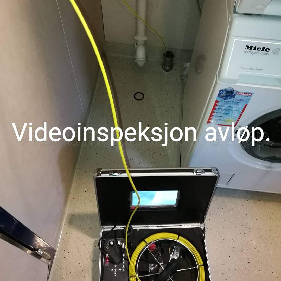 Videoinspeksjon av avløp.