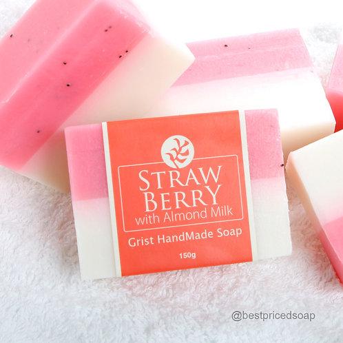 Strawberry with Almond Milk Bar