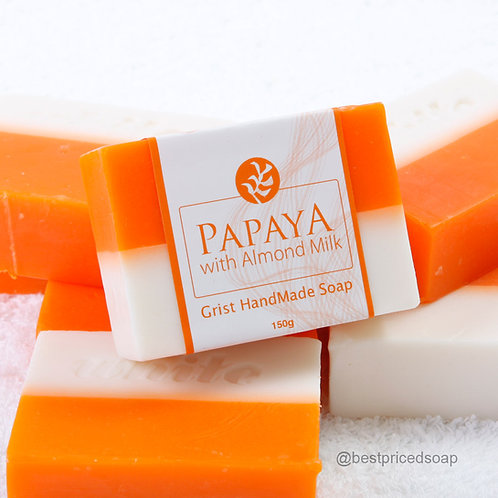 Papaya with Almond Milk Bar