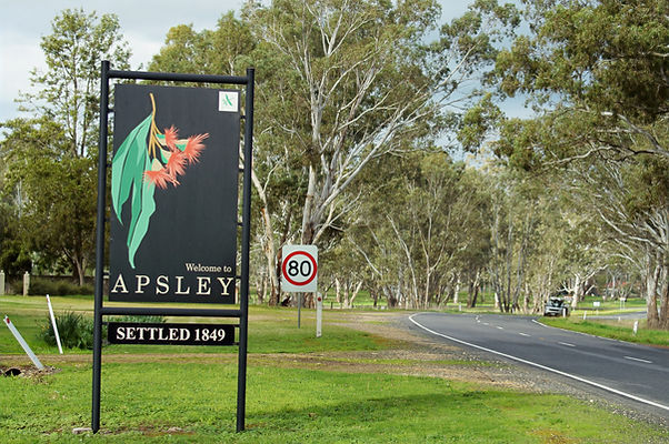 One of Apsley's entrance roads