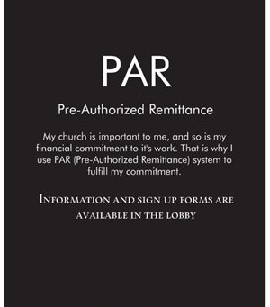 PAR, a great way to give