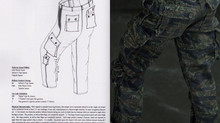 Tiger Stripe combat uniform JWD Pattern Making of, Part III(2)
