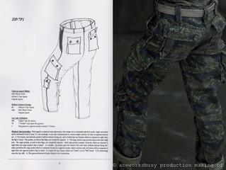 Tiger Stripe combat uniform JWD Pattern Making of, Part III(2)