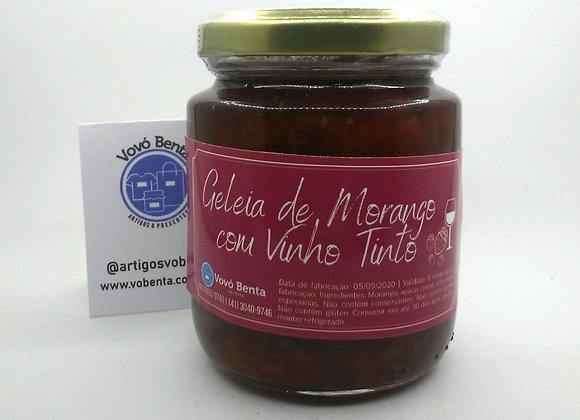 Geleia de Morango com Vinho Tinto - GEL002