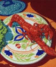 Jack Beal, Lobster Print