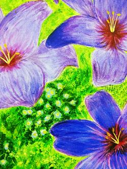 """Blue Flowers""by Lauren Schmid"