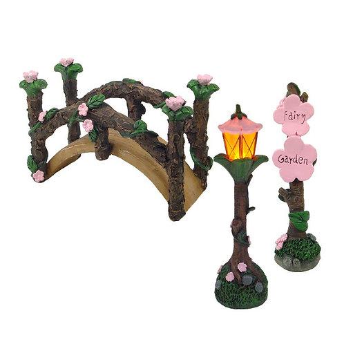 Garden Bridge Set w/LED light