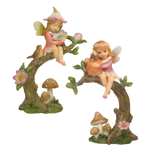 Flower Fairy on a Branch