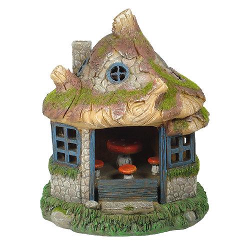 Fairy House w/ Solar Lights - FH12