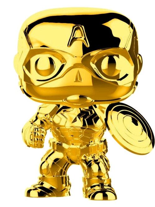 Marvel Studios 10th Anniversary - Captain America Gold Chrome Pop! Vinyl