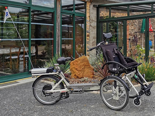 Vélo pousseur 2 places VAE