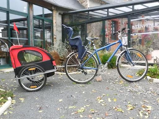 Remorque vélo & poussette 2 enfants