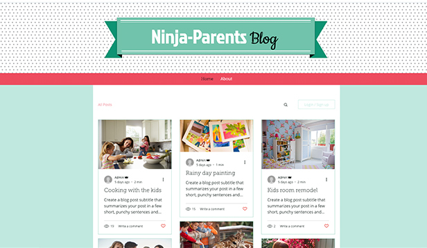 Lifestyle template – Blog per genitori