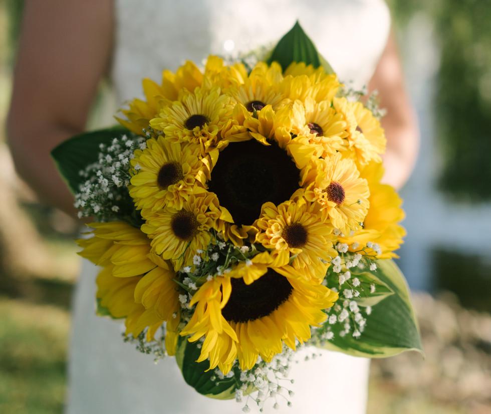 Sunflowers & Baby's Breath