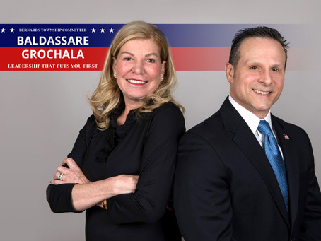 Mayor James Baldassare Jr. and Kate Grochala announce their virtual campaign kickoff