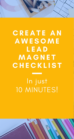Create an awesome lead magnet checklist