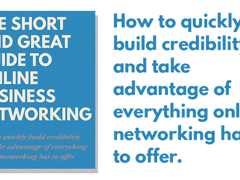 My new book on online networking: Now on Amazon