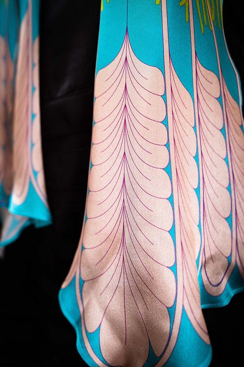 Tail Feather Waterfall Scarf - Shocking Pastel