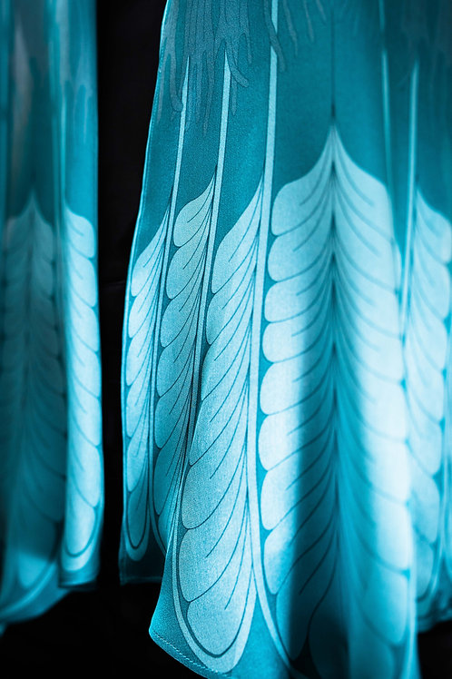 Tail Feather Scarf - Blue
