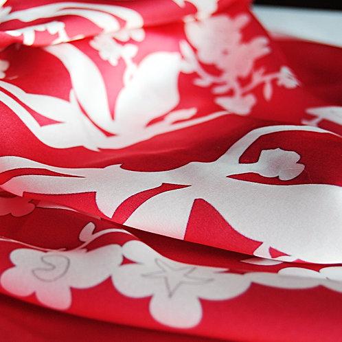 Titania Square Scarf in red