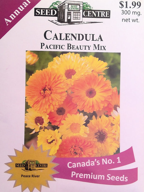Calendula Pacific Beauty Mix (Annual Flower)
