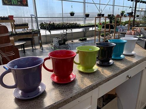 Ceramic Tea Cup Planter