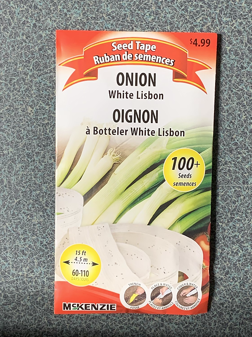 Onion White Lisbon (Seed Tape)