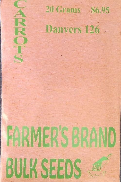 Carrots Danvers 126 (Bulk Pack)