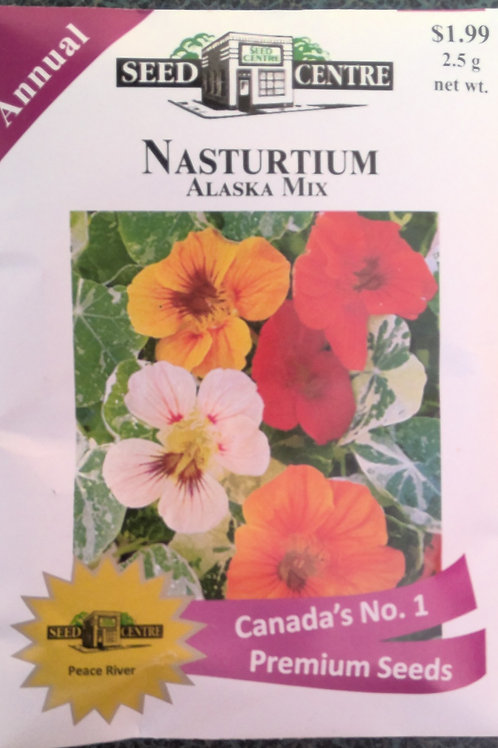 Nasturtium Alaska Mix (Annual Flower)