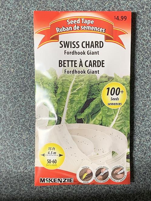 Swisschard Fordhook Giant (Seed Tape)