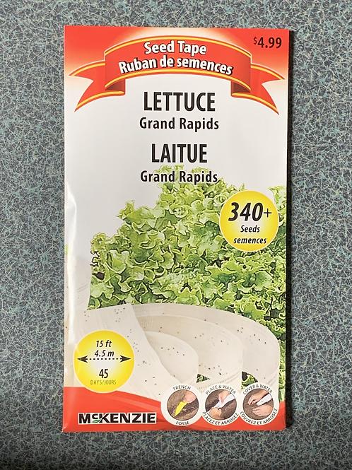 Lettuce Grand Rapids (Seed Tape)
