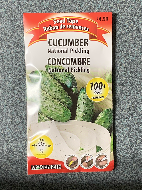 Cucumber National Pickling (Seed Tape)