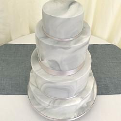 Grey marble wedding cake
