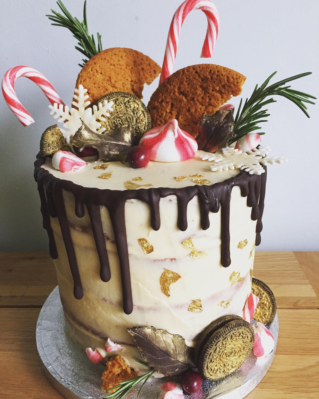 Christmas Cake B W