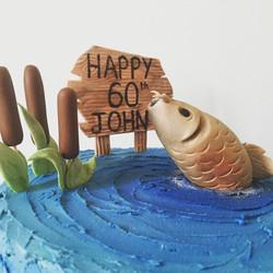 60th Fishing cake