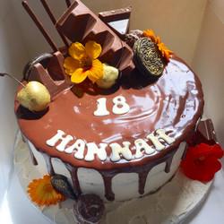 Toblerone Drip Cake