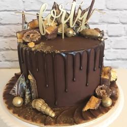 Fortieth chocolate cake