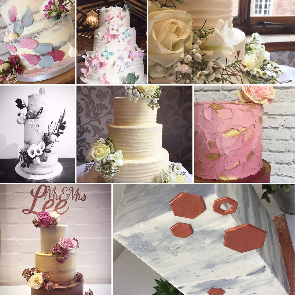 Selection of wedding cakes so far this year