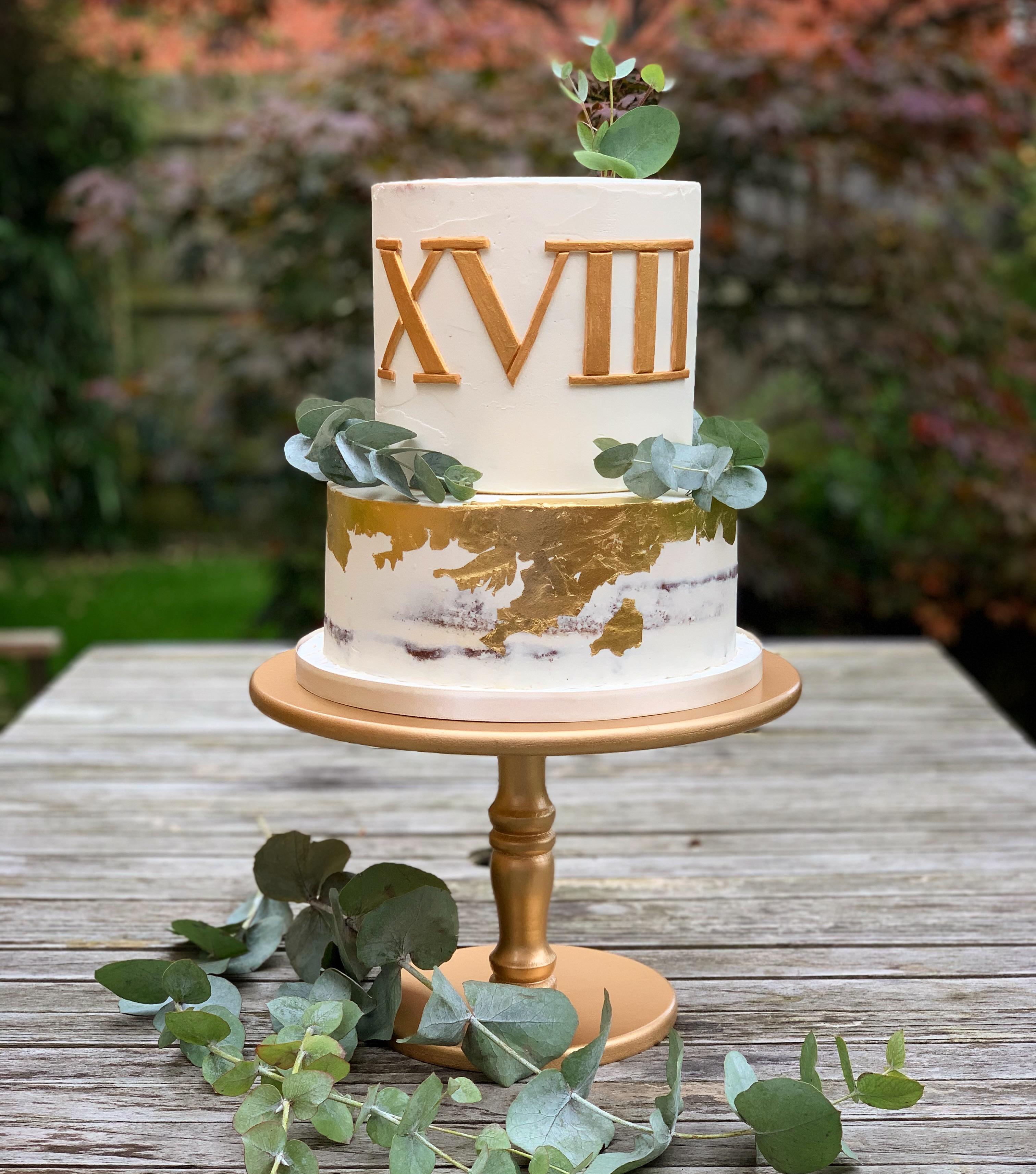 Roman numerals cake